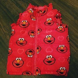 Little girls Elmo vest